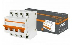Автоматический выключатель ВА47-63 3P, 16А; 4,5кА; тип C.