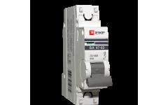 Автоматический выключатель ВА 47-63, 1Р 0,5А 4,5кА ЭКФ