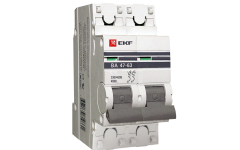 Автоматический выключатель ВА 47-63, 2Р 25А 4,5кА ЭКФ