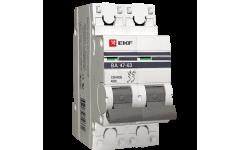 Автоматический выключатель ВА 47-63, 2Р 2А 4,5кА ЭКФ