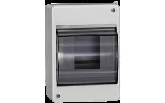 Бокс КМПн 2/4 с прозр.крышкой для 4-х авт.выкл.наруж.установки ИЭК