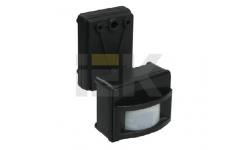 IEK Датчик движения ДД 017 черный, макс. нагрузка 1100Вт, угол обзора 120град., дальность 12м, IP44,