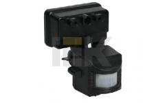 IEK Датчик движения ДД 019 черный, макс. нагрузка 1100Вт, угол обзора 120град., дальность 12м, IP44,