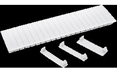 Заглушка 12 модулей белая