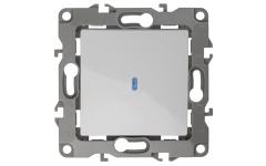 12-1102-01 ЭРА Выключатель с подсветкой, 10АХ-250В, IP20, Эра12, белый