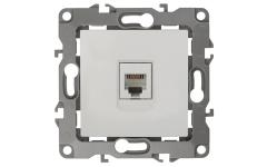 12-3105-01 ЭРА Розетка телефонная RJ11, IP20, Эра12, белый