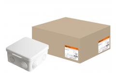 100х100х55мм ОП IP54 коробка распаячная с крышкой,8 входов TDM