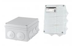150х110х70мм, крышка, IP55, 10 гермовводов, инд. штрихкод,распаячная коробка ОП TDM
