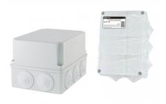 190х140х120мм, крышка, IP55, 10 гермовводов, инд. штрихкод, распаячная коробка ОП  TDM