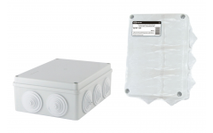190х140х70мм, крышка, IP55, 10 гермовводов, инд. штрихкод, распаячная коробка ОП  TDM