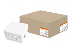 65х65х50мм ОП IP54 коробка распаячная, крышка,4 вх. TDM