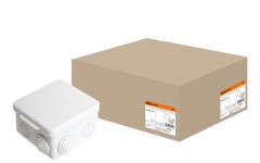 80х80х50мм ОП IP54 коробка распаячная крышка,7 вх.TDM