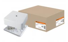 КР 50х50х20 ОП коробка распаячная с клем. колодкой белая IP40 TDM