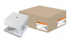 КР 75х75х20 ОП коробка распаячная с клем. колодкой белая IP40 TDM