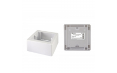 Коробка установочная ОП 88х88х44 мм, универсальная, подъемная, белая, IP20, инд. штрихкод TDM