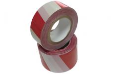 Лента сигнальная, оградительная, красно-белая (упак. 5 шт.) ЛСО-50х100 TDM