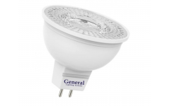 Лампа светодиодная GENERAL ECO MR16 7W диффузор GU5.3 4500K 480Lm