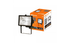 Прожектор ИО150 галогенный черный IP54 TDM