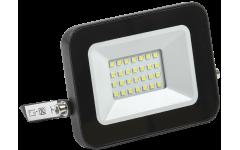 Прожектор СДО 06-20 светодиодный черный IP65 6500 К IEK