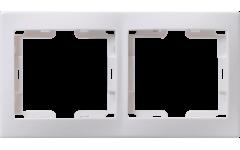 РГ-2-КБ рамка 2местн.горизонт.КВАРТА (белый)