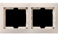 РГ-2-ККм рамка 2местн.горизонт.КВАРТА (кремовый)
