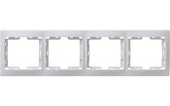 РВ-4-КБ рамка 4местн.верт.КВАРТА (белый)