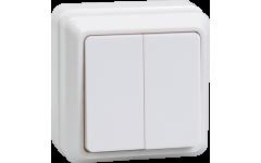ВС20-2-0-ОБ выключатель 2кл 10А откр.уст.ОКТАВА (белый)