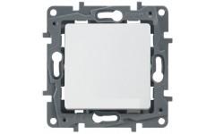 Выключатель с контурной подсветкой на винтах 10АХ Legrand Etika (белый)