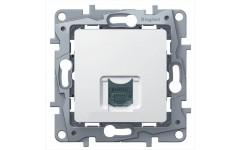 Розетка компьютерная  RJ45 Кат.5 UTP Legrand Etika (белый)
