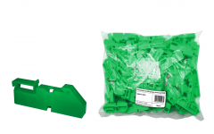 Изолятор на DIN рейку зеленый TDM