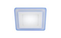 LED 4-9 BL Светильник ЭРА светодиодный квадратный c cиней подсветкой LED 9W  540LM 220V 4000K