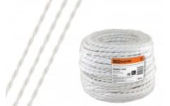 Ретро провод Эко 2х1,5 витой ГОСТ белый (50м) TDM