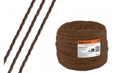 Ретро провод Эко 2х1,5 витой ГОСТ коричневый (50м) TDM