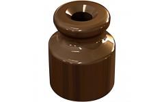 Керамический изолятор для ретро провода коричневый (100шт) Эко TDM