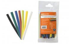 Трубка термоусадочная 1м (2:1) 6/3мм разноцветная -55-105°C TDM ELECTRIC