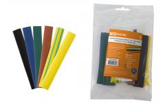 Трубка термоусадочная 1м (2:1) 12/6мм разноцветная -55-105°C TDM ELECTRIC