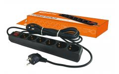 СФ-06В выкл-ль 6гнезд,1,5метров,с заземл-ем,ПВС3х1мм2 16А/250ВTDM сетевой фильтр