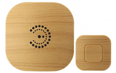 Звонок  ЭРА BIONIC Bright wood беспроводной
